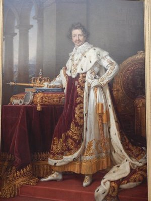 Stieler, King Ludwig I in Coronation Robes, 1826