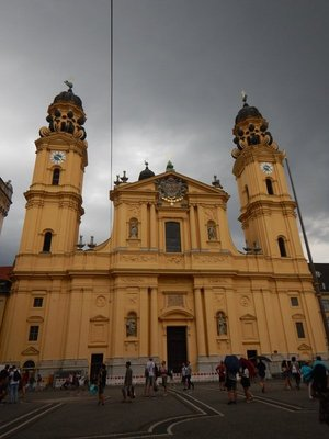 High-Baroque Theatine Church, completed in 1690, is the final resting place for 16 members of the Bavarian Royal Family including King Maximillian II who died in 1864