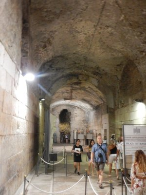 You can pay to go underneath Diocletian's Palace which was the storage area and possibly dungeon; being structurally a faithful replica of the chambers above, they are largely responsible for the palace getting UNESCO status