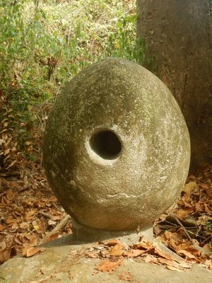 Mysteriously not all of the holes in the 9 stones were uniform; some were the same dimension through the stone while others might be larger on one end than the other