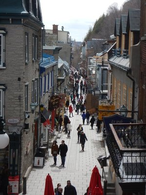 The Rue de Petit-Champlain is the oldest street in the city and attractively lined with shops and cafes