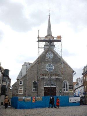 The city's oldest church, Our Lady of Victory, was built in 1688; this church in Lower Town anchors Place Royale
