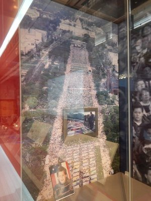 I remember visiting DC for the March on Washington in 1993; the Library has a glass exterior which made for irritating reflections on my photos