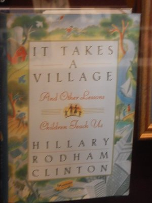 The vast majority of the library was focused on President Clinton but Hillary did merit some attention; Bill attended Georgetown getting a degree in international affairs