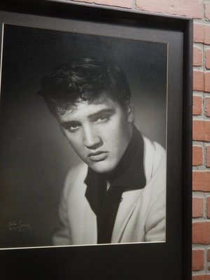 In 1955 when Elvis was first starting out, his manager Bob Neal sent him to William Speer for his first photo shoot; the resulting black and white photos helped make both Presley and Speer famous