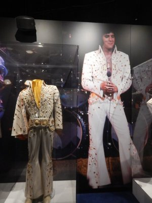 Orange Target Suit, 1973-4; Elvis recorded more than 600 songs but didn't write a single one of them
