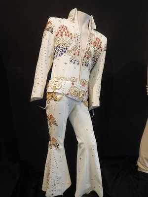 Between every exhibit was a large gift shop where you could buy anything and everything Elvis related; this Elvis outfit was selling for $2570