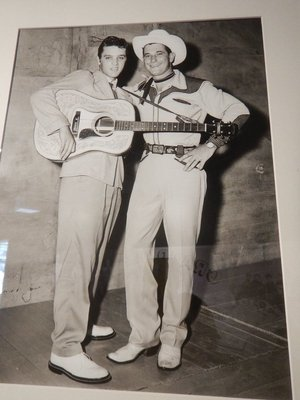 Elvis first performed at the Overton Park Shell in Memphis in 1954; when he returned with Texas Bill Strength the next year he faced a sold-out screaming crowd of 4000