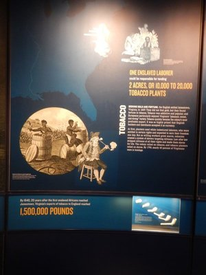 The museum explains how slaves were the economic backbone of the South; the museum would have benefited from more video and less information that required reading