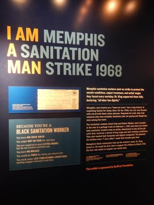 The strike by Memphis sanitation workers is what brought MLK to Memphis; today it seems ridiculous that Blacks and whites doing the same job wouldn't have the same workplace rules and benefits