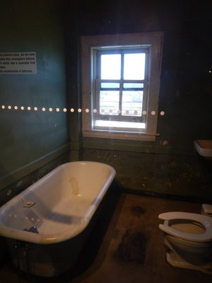 James Earl Ray used this bathroom in the boarding house across the street from which he fired the shot that killed MLK; other boarders had reported him acting strangely