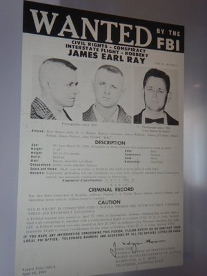 James Earl Ray escaped to Canada after the assassination where he obtained a false Canadian passport on which he flew to Europe; he then traveled to Lisbon and back to London before being captured