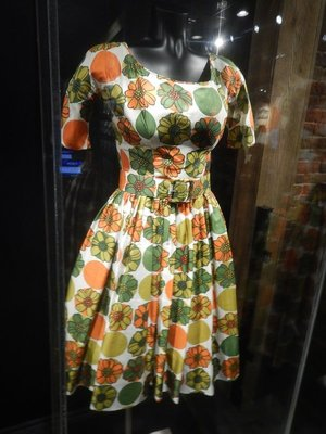 Vintage floral dress worn by Reese Witherspoon in Walk the Line; Reese won the Academy Award for Best Actress while Joaquin Phoenix also received a nomination for his portrayal of Cash