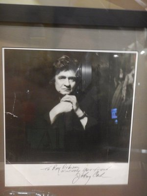 This was Johnny's favorite picture of himself; Johnny autographed this photo in 1978 to Roy Orbison and he would later record an album with Orbison