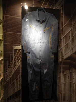Custom jumpsuit worn by Cash during the San Quentin Prison rehearsals in 1969; his signature song came to be Folsom Prison Blues