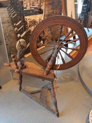 It took a great deal of time to accumulate enough thread or yarn from the raw material, so spinning was a year-round activity for women