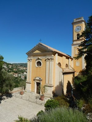 Our Lady of the Assumption Church; you could catch the bus in Nice for 1.50 euro and enjoy a scenic ride to Eze village
