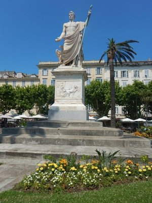 Monument to Napoleon I; made of Carrara marble, Napoleon is represented here by Jupiter