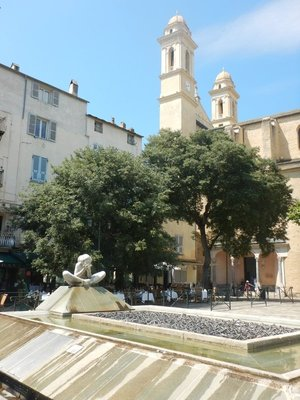 Place du Marche; this square is the heart of the ancient port area (Bastia now has three different ports)