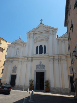 The Church of Saint Mary is a former cathedral built in 1495 but heavily remodeled in the 17th century