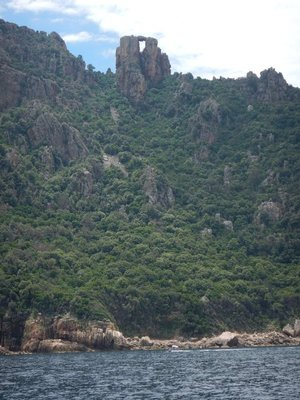 The Castle formation could have served as a Genoese watch tower; this area is midway between Ajaccio and Calvi