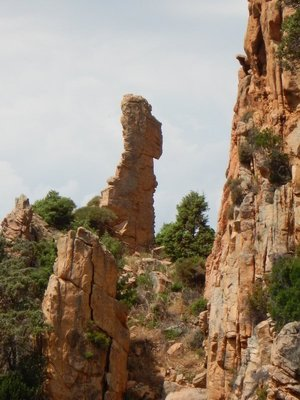 This formation is called the indian but I'm not sure I see it; the rock looks more like a rabbit or maybe Snoopy
