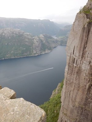 A few tourist boats and ferries ply the Lysefjord but the views would just be sheer cliffs; much better to do the hike