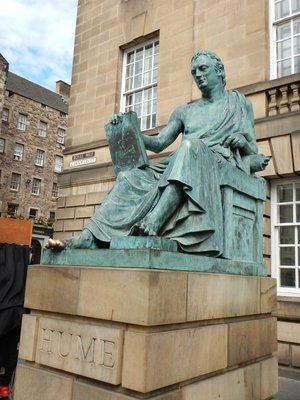 David Hume was influential Scottish philosopher of 1700s; lots of statues but only one of a woman (Queen Victoria)