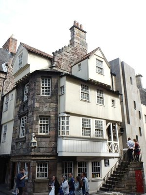 John Knox house; converted Scotland to a Calvinist style of Protestantism, Presbyterianism