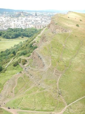 Salisbury Crags in Holyrood Park were popular in 1800s as sport of rock climbing began