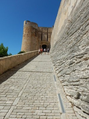 This long ramp leads to the Porte de Genes which, during Genoese rule, was the only entrance to town; in 1588, a drawbridge was added to further deter enemies