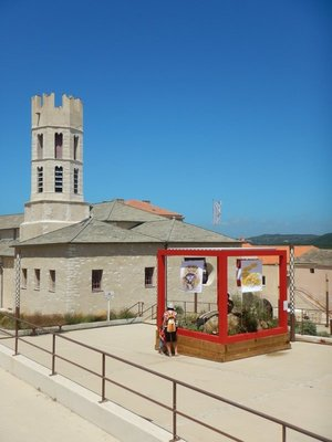 St. Dominique Church was built by Dominicans in 1343; the Gothic bell tower is unusual with a square base surmounted by an octagonal section