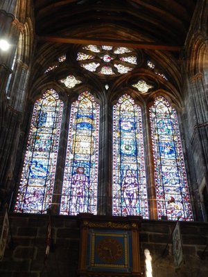 13th century Glasgow Cathedral is a rare example of an intact pre-Reformation Scottish cathedral