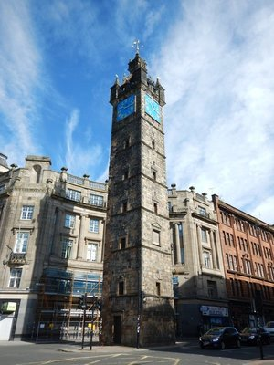 1626 Tolbooth Steeple built where the main streets of Glasgow crossed at that time