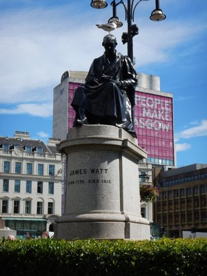 James Watt, naturally from Glasgow, perfected the steam engine that powered Europe into the Industrial Age