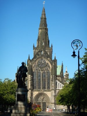 Scottish missionary and explorer David Livingstone was born here; Cathedral was originally pink before pollution darkened it