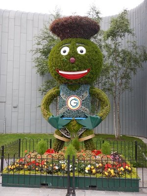 Clyde, an anthropomorphic thistle, was the mascot from the 2014 Commonwealth Games held in Glasgow