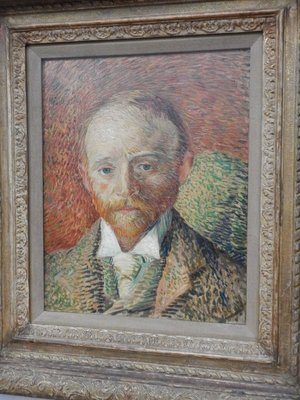 Van Gogh painted his flatmate, a Glasgow art dealer, in this 1887 work from the Kelvingrove Museum