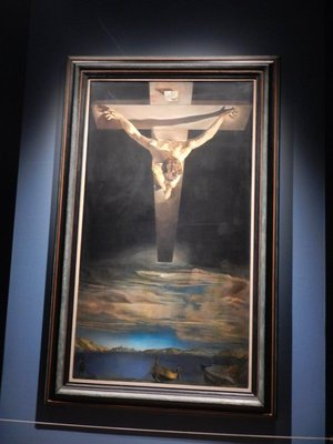 Christ of St. John on the Cross (1951) by Salvador Dali is the most famous painting at the Kelvingrove Museum