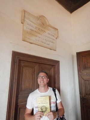 I gave Ben Tales of the Alhambra which he said he enjoyed reading; this is the room (pretty run down at the time) where Washington Irving wrote the book