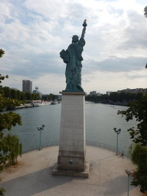 France gave us Lady Liberty in 1886 and the US gave this statue to France in 1888; I think it's ironic that the statue has it's back turned to where most people view it from a bridge