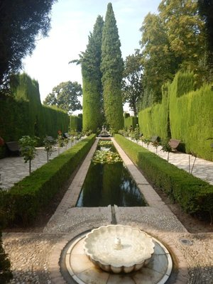 Water from the Darro River was piped from 5 miles away to power the many fountains like this one at the Generalife