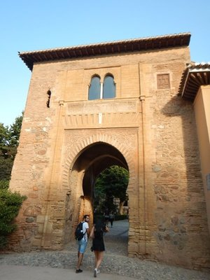 Puerta del Vino is one of the oldest constructions at the Alhambra dating from the time of Mohammed II