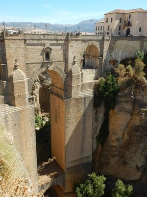 1793 New Bridge over the Tajo Canyon is the main attraction in town