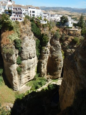 The 100 meter deep Tajo Canyon divides Ronda in two; part of For Whom the Bell Tolls was supposedly set here