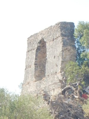 Old Arab wall remains; town population currently 31,000