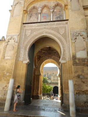 1377 Puerta del Perdon at Mezquita; Christian church was founded on this site in AD 600