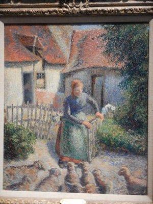 Pissarro, Shepherd Returning Sheep, 1886
