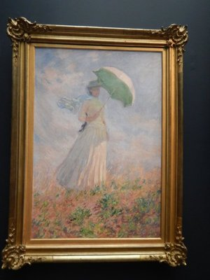 Monet, Woman with Umbrella Turned to the Right, 1886