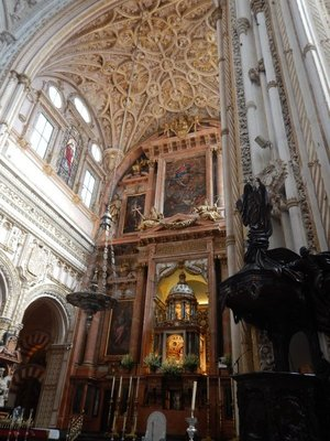 16th century high chapel in the Mezquita; the cathedral took nearly 250 years to complete (1523-1766)